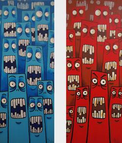Bleu de peur & Rouge de colère, 2009