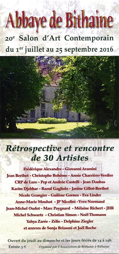 ABBAYE DE BITHAINE 20ème Salon d\'Art Contemporain 2016