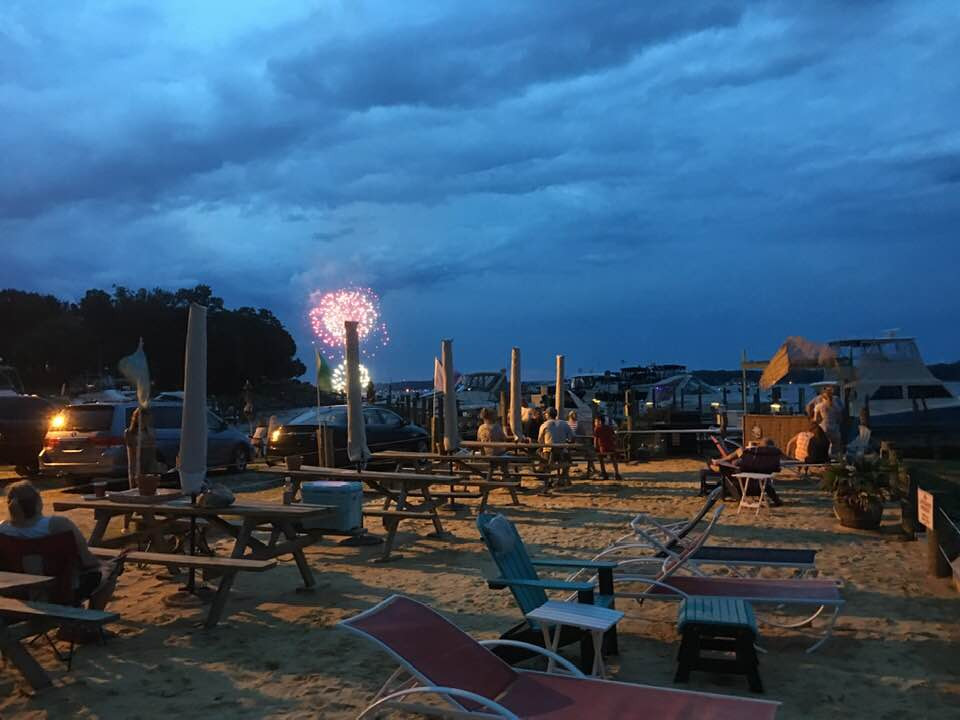 Middle River Fireworks from the beach
