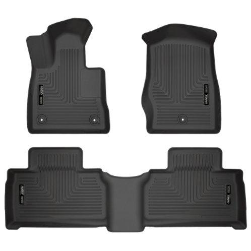 2020 Ford Explorer Husky Liners Weatherbeater Black Front & 2nd Seat Floor Liner