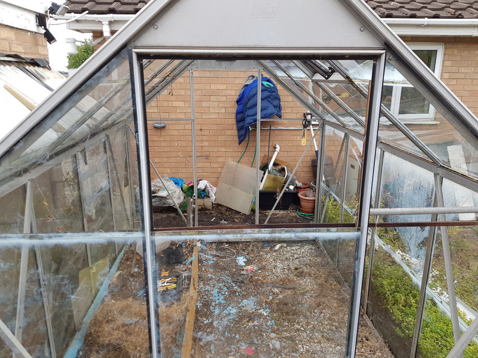 Moving 40 year old greenhouse project. Week 1 disassembley