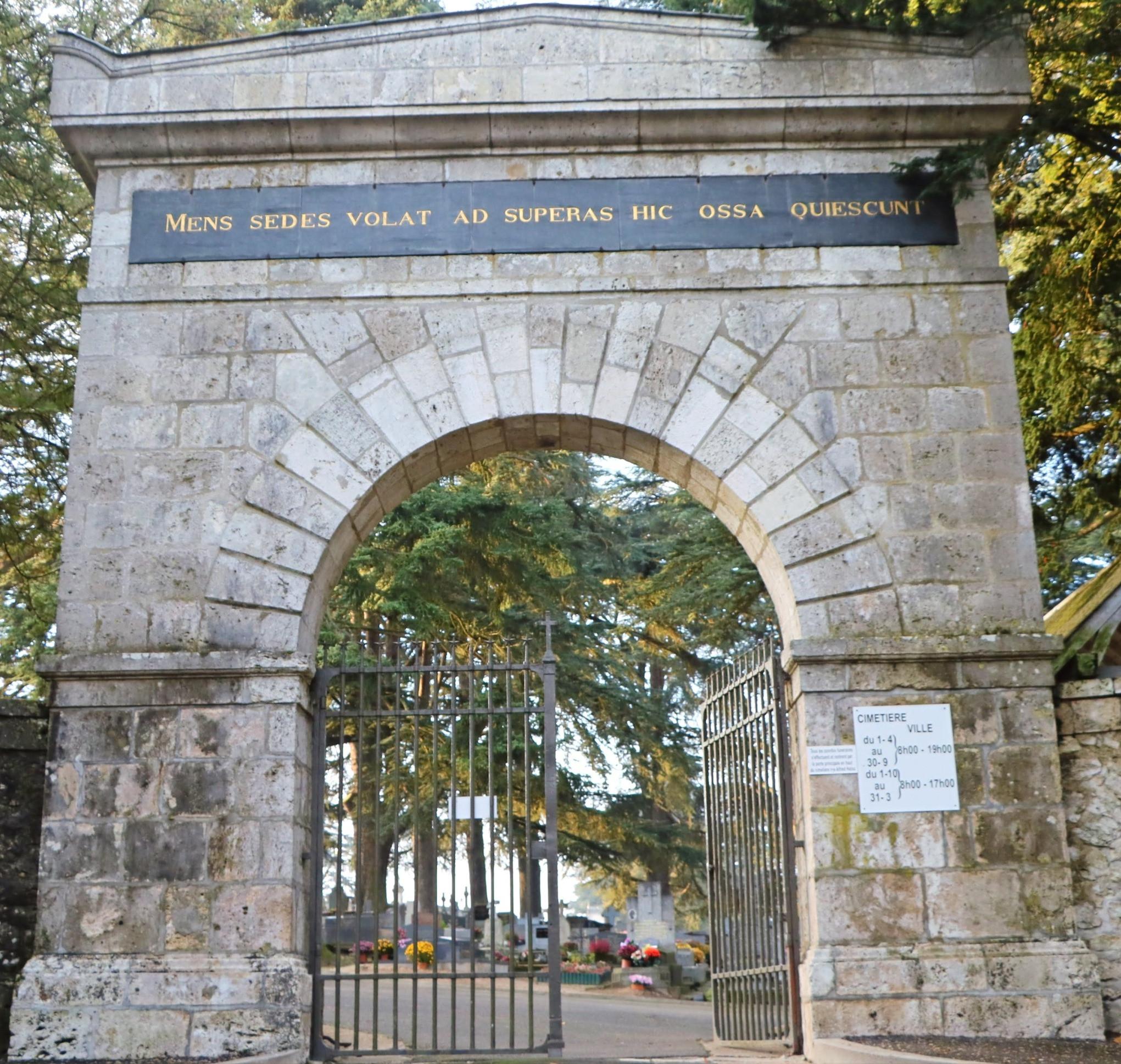 Visite du cimetière