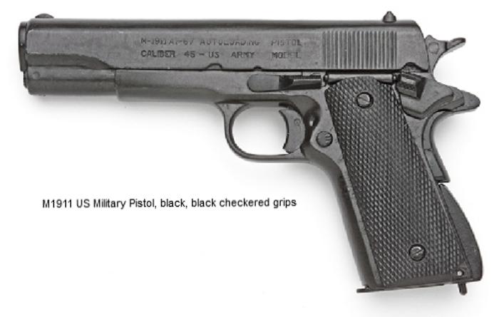 M1911  45 US Military Pistol, black