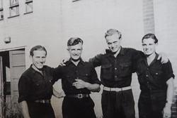 German prisoners of war, stationed at Harold Wood, visiting Kingsley Hall in 1947