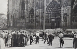 A group from Kingsley Hall visiting Cologne cathedral in 1948