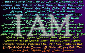 What are the different names of God and what do they mean?""