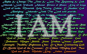 """What are the different names of God and what do they mean?"""""""