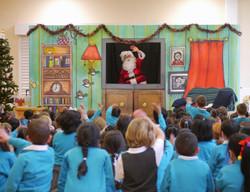 Santa in pantomime