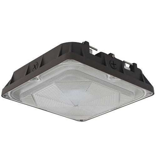 LED Canopy Light - 45W - 4,948 Lumens - DLC Standard - UL Listed - 5K - 120-277V
