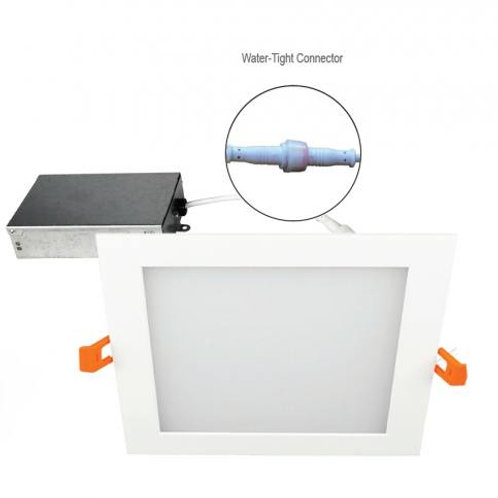 6 Inch LED Flat Square Panel - 16W - 1,030 Lumens - Energy Star Rated - UL Liste