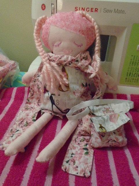 Doll Pink with Yarn Braids
