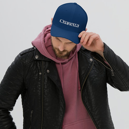 White Charetta Logo Structured Twill Cap