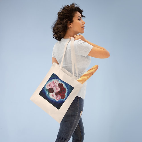 """Double Sided Tote Bag Featuring """"Survival of the Fittest"""" Painting"""