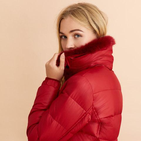 Red Fleece Detail