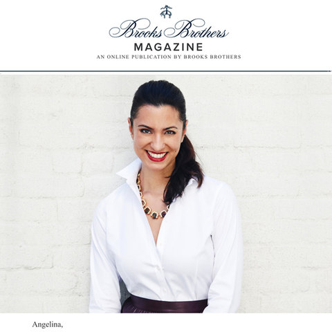 Brooks Brothers Magazine Feature of Angelina DelCarmen