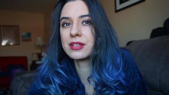 Blue Hair Headshot