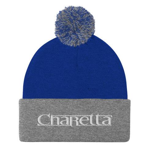 Charetta Blue and Grey Beanie