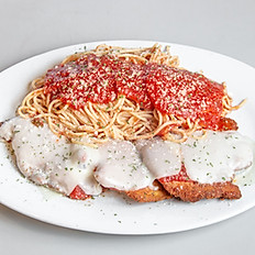 Chicken with Pasta and Tomato Sauce