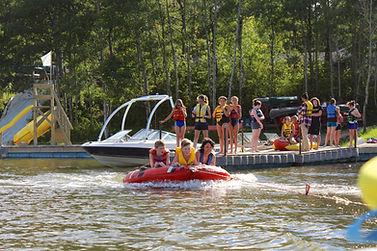 Summer Camp Tubing at Kenosee Lake Bible Camp