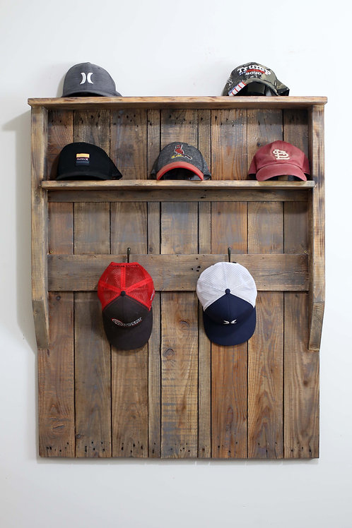 Pallet Wood Hat Rack