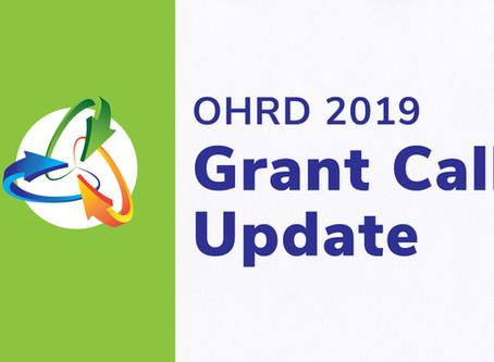 2019 Grant Call Update