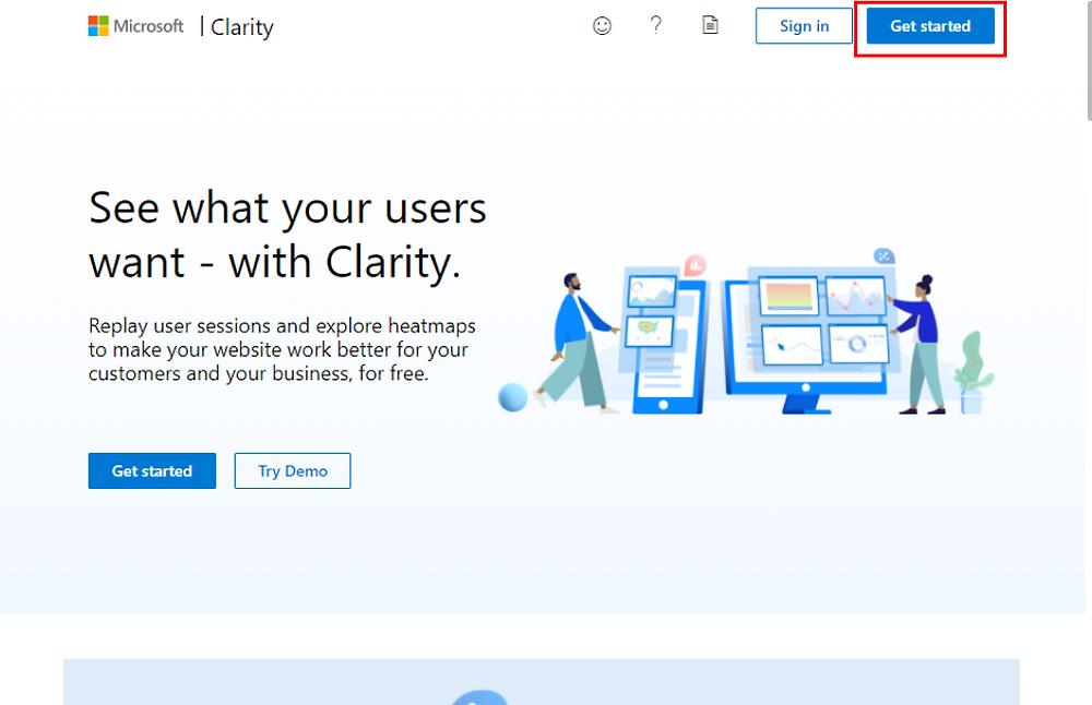 Clarityのアカウント作成方法