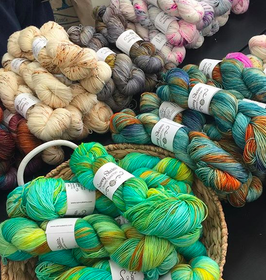 Savvy Skeins yarn at Unraveled