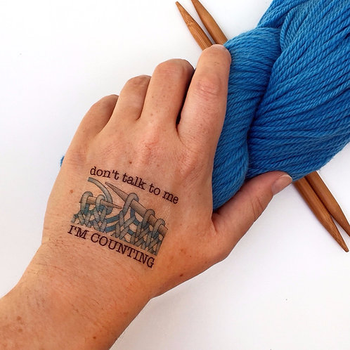 Knitting Temporary Tattoos