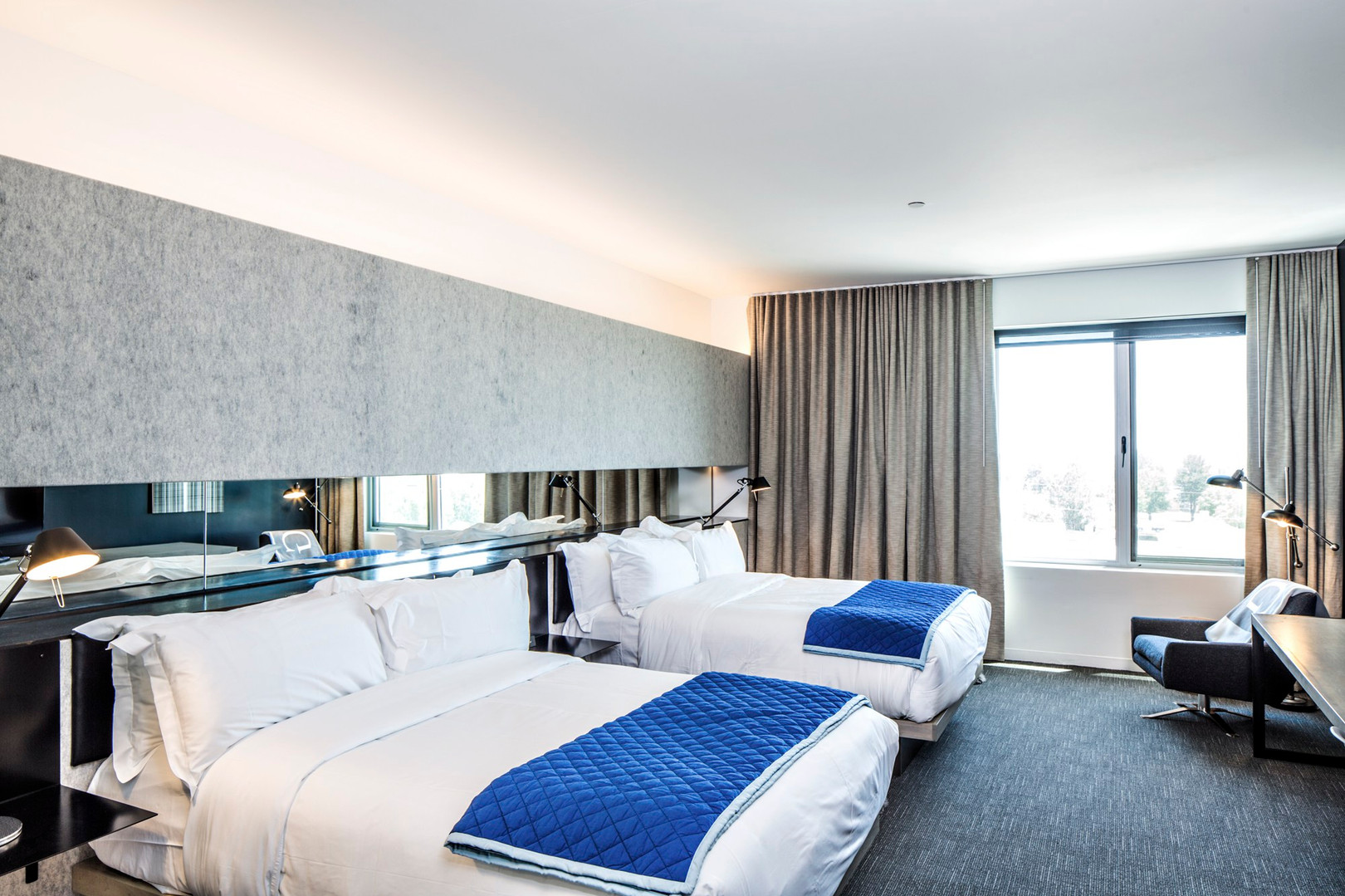 Shared double queen room