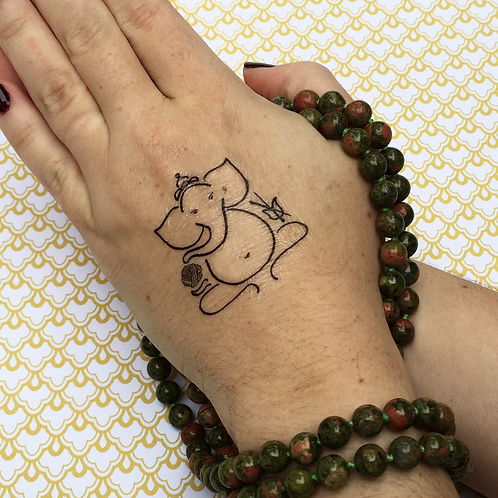 Yoga + Yarn Temporary Tattoos