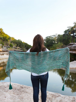River and Stones Shawl