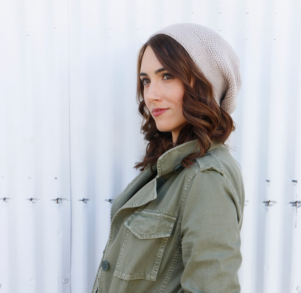 Co-Founder Kate Madden looking beautiful as ever modeling the Olivia Hat.