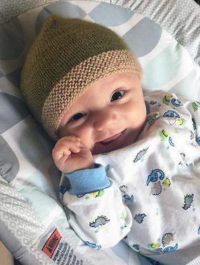 69ef918476a1 Free Pattern! Garter Stitch Baby Hat