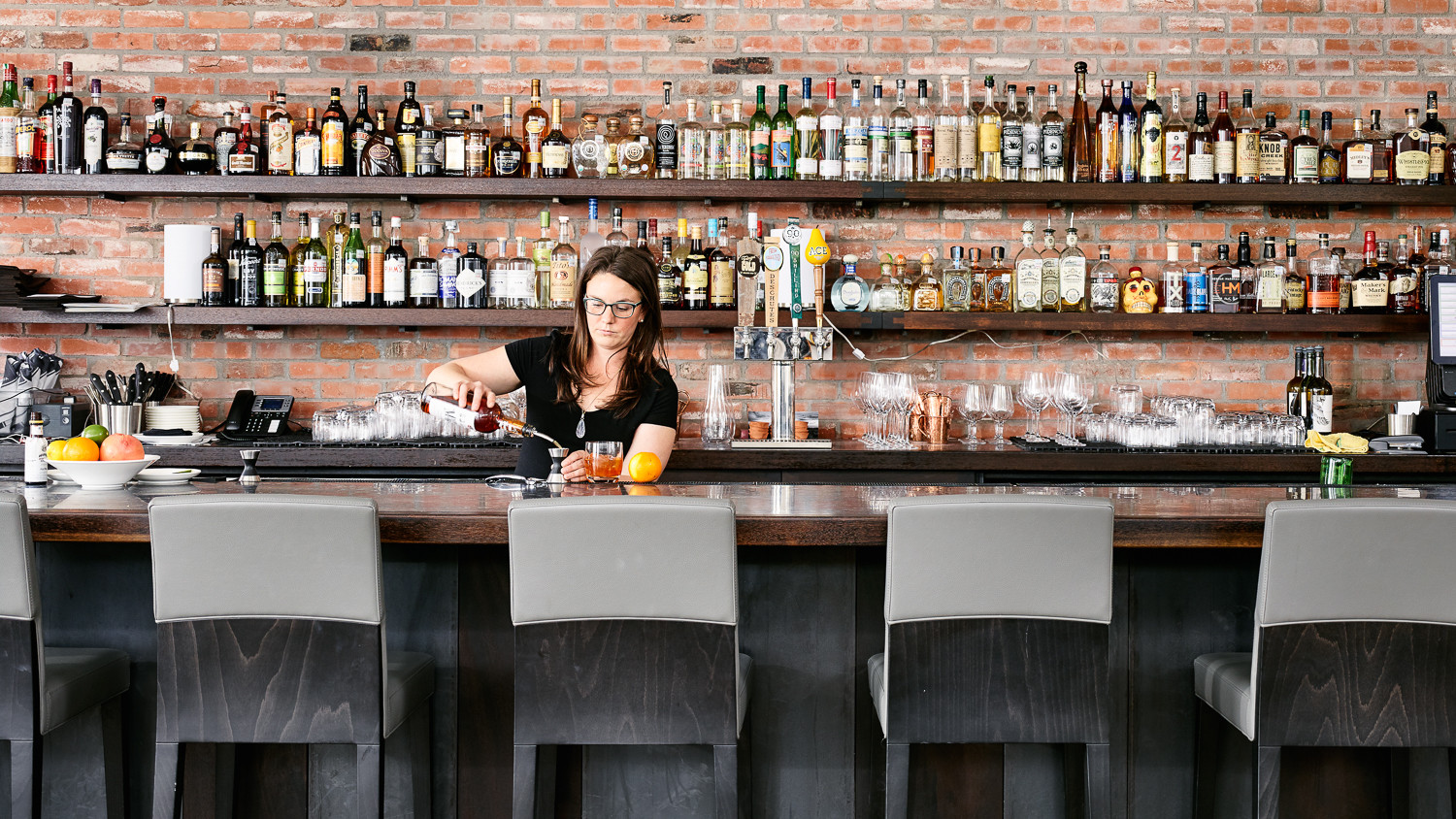 The bar at Hotel St. George