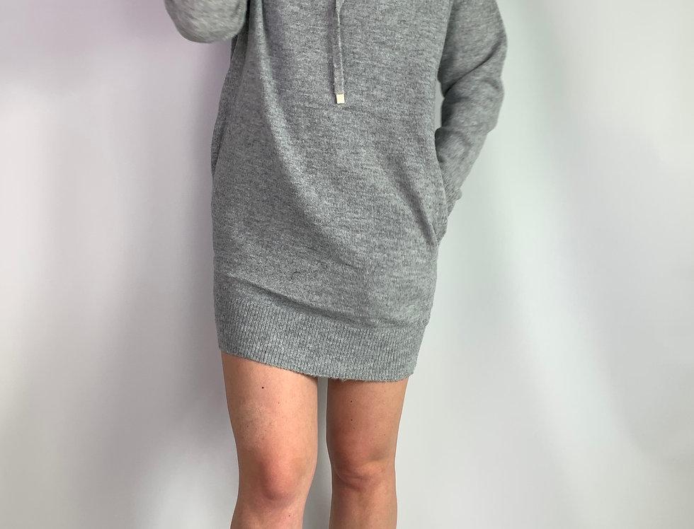 Pulloverkleid mit Kapuze