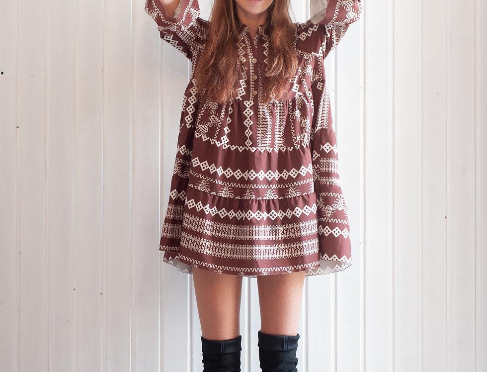 Kleid Musterprint
