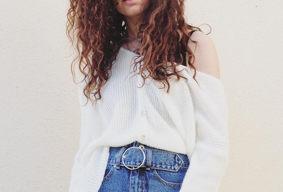 Jeans Rock mit Gürtel