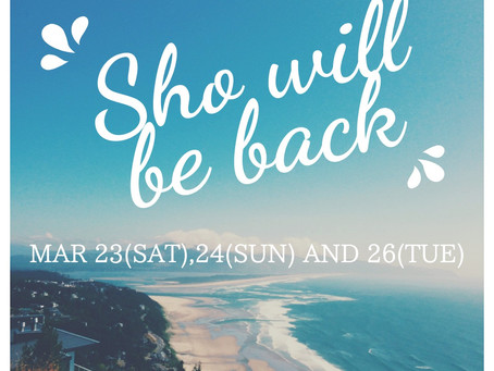 sho will be back!✈︎ホンダが再び帰国します!