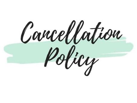 cancellation policy🙏キャンセルについて