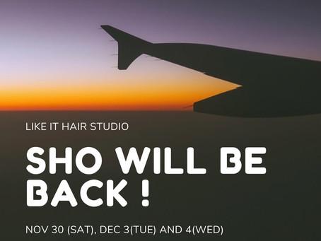 sho will be back! 📣ホンダ帰国のお知らせ
