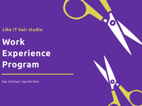 職業体験のご案内✂︎ Work Experience program from school