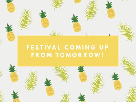 七夕祭り期間中のご案内🎋during festival from tomorrow