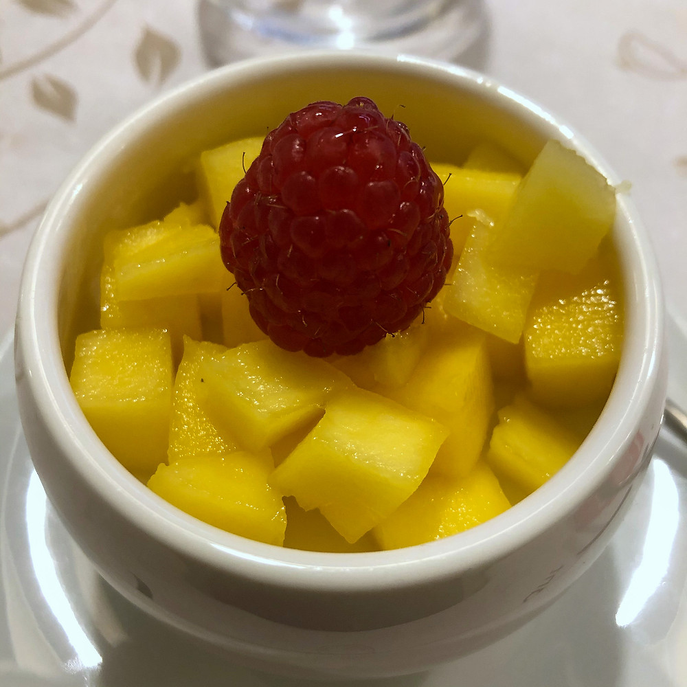 Coconut milk dessert with mango jia wei Cookingwiththehamster