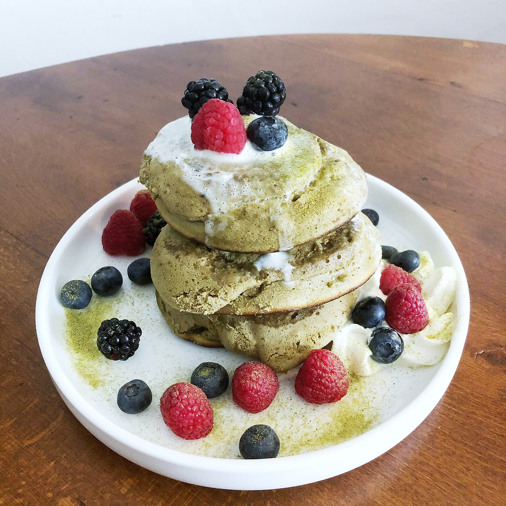 Matcha pancakes cookingwiththehamster