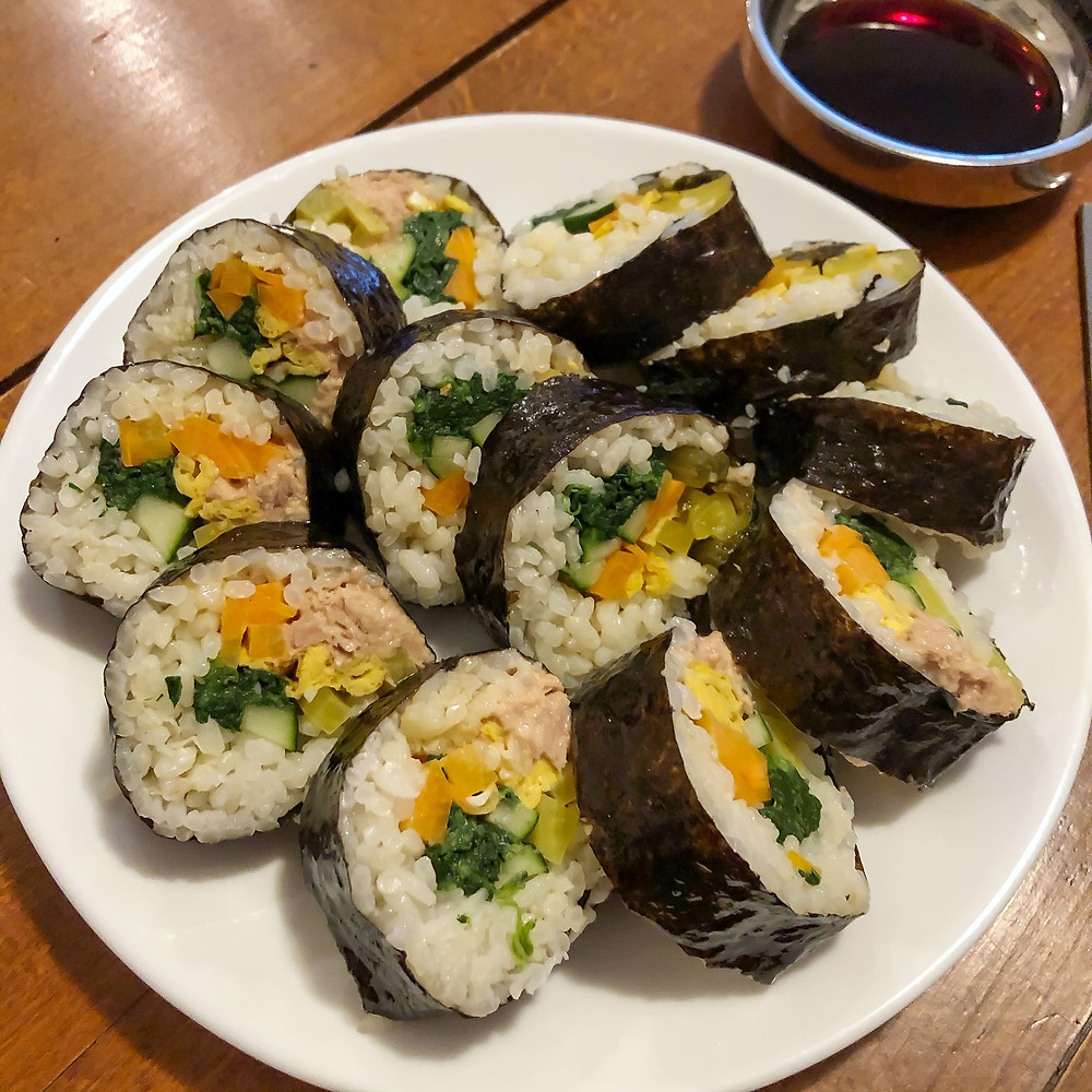 Kimbap ricetta recipe Cookingwiththehamster