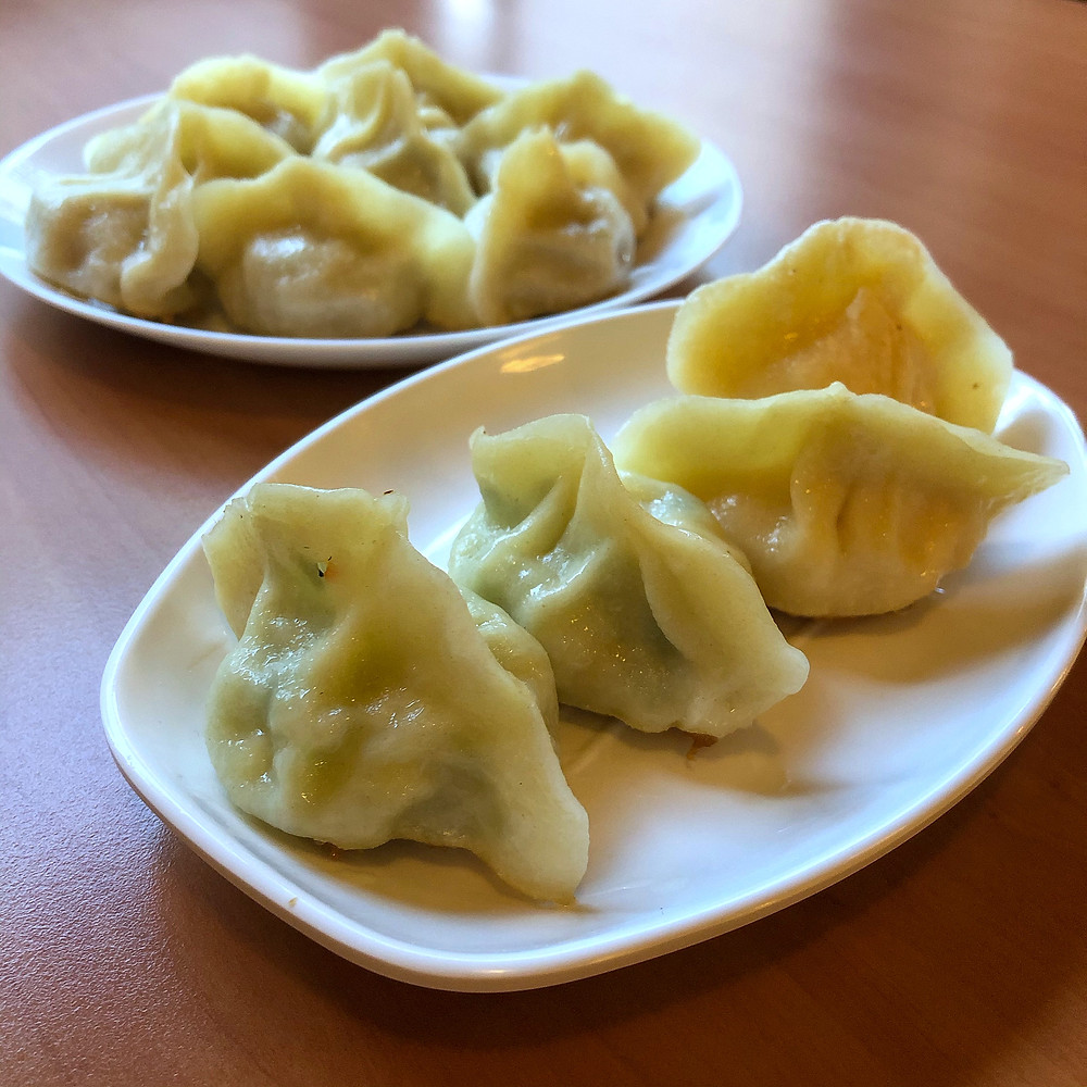 Dumplings: pork and cabbage, zucchini and crab ravioli di lu pechino Cookingwiththehamster