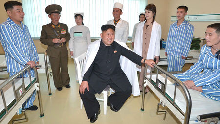 Kim Jong-un in a military hospital cookingwiththehamster