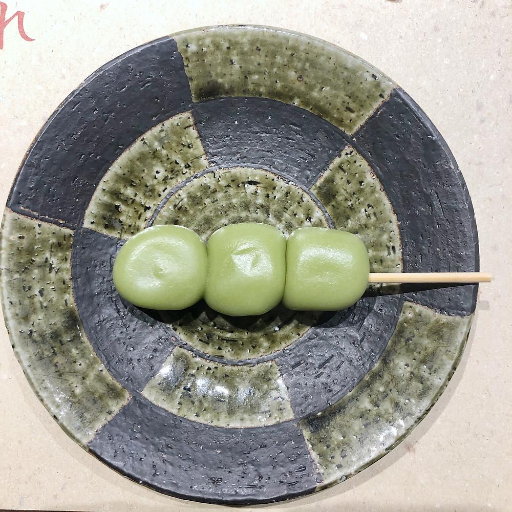 Matcha dango shiro poporoya Cookingwiththehamster