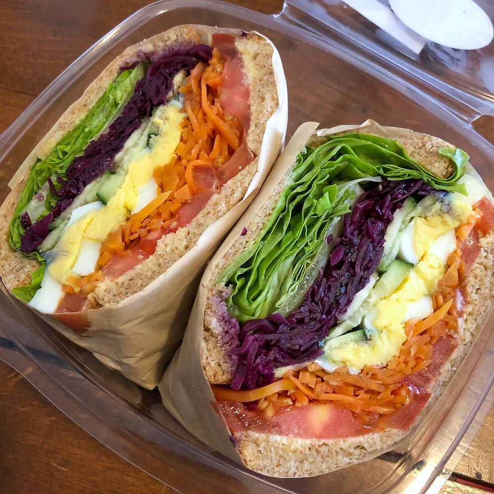 Rainbow sandwich li-sei deli milano Cookingwiththehamster