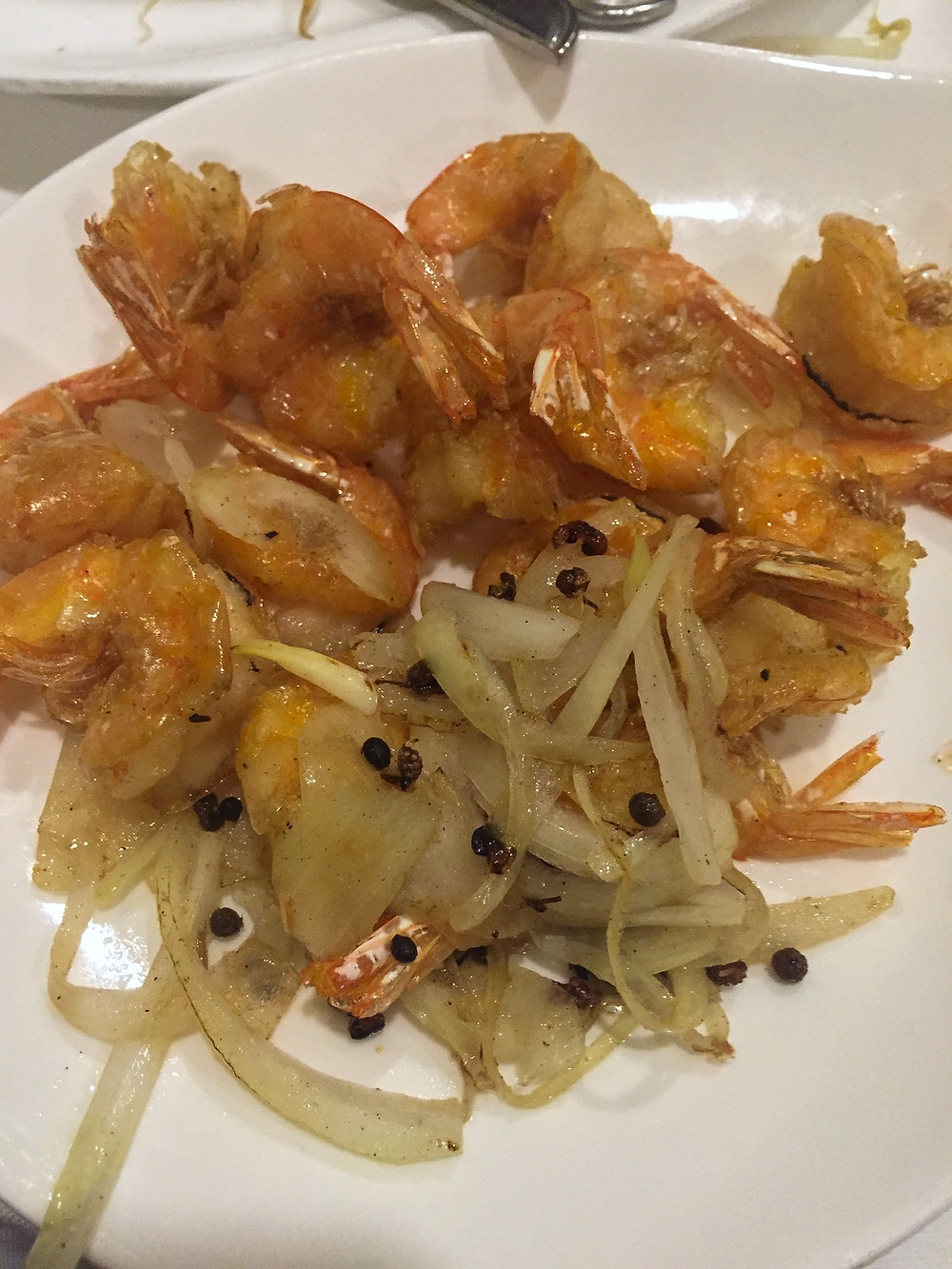 Prawns with salt and pepper jubin milano Cookingwiththehamster